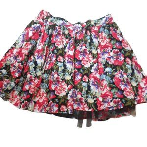 Material Girl Floral Midi Skirt Lace Detail Medium